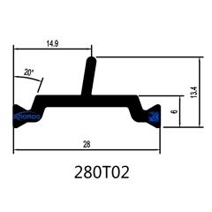 28mm Thermal Insulation Polyamide Profiles for Aluminum Windows & Doors