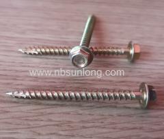 Wood screw - hex head - cut tip - zinc coated
