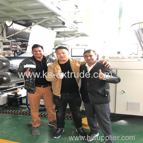 India customer Inspection SPC Flooring machine