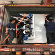 Packing of Vertical Four Roller Marble Sheet Machine for India