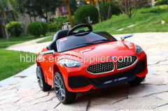 kids electric ride on car with 2.4 G bluetooth remote control and battery power