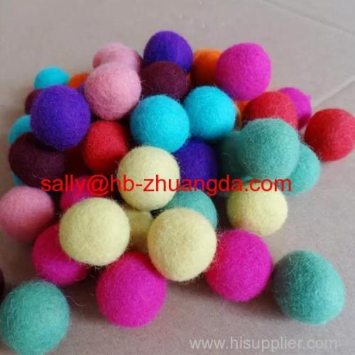 home decorative materials wool felt ball with any color