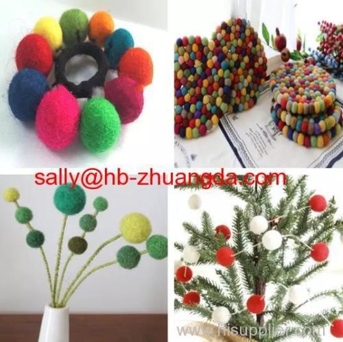 eco friendly handmade wool felt balls wholesale China supplier
