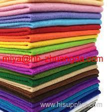 wool felt sheet colorful