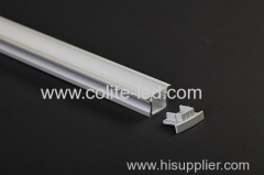 Deeper U shape recessed LED Aluminum profile with flange
