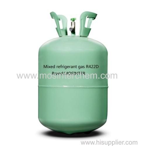 Mixed refrigerant gas R422D