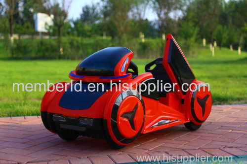 Plastic Material four wheels drive CE red color children electric battery car
