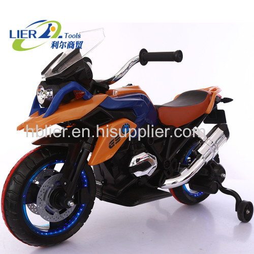 Wheels lights Golden color ride on toy motorcycle toy for kids
