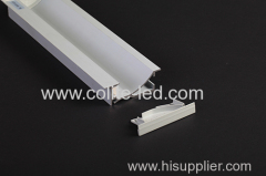 Recessed wall or brick LED aluminum profile