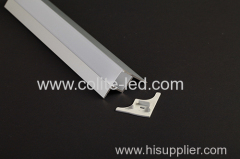 Quality anodized aluminum LED profile for build-in into the gypsum ceiling
