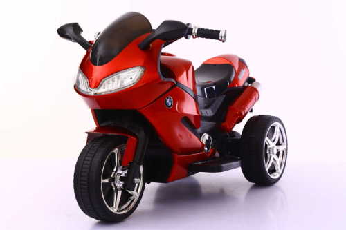 Wine red color rechargeable battery operated bike kids motorcycle bike