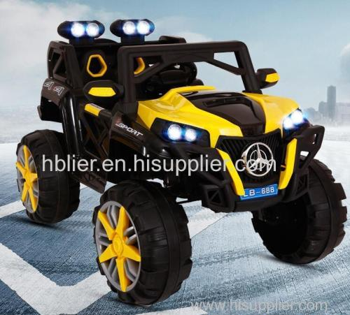 2 seats kids ride on big toy cars /smart battery operated cars with remote control and led light