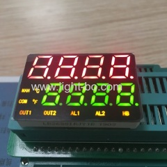 Customzied multicolour 8 Digit 7 Segmnet led display for temperature controller