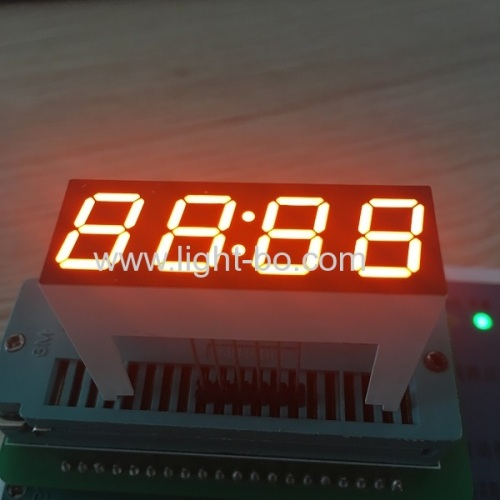 Customized Super bright orange 0.39 4 Digit led clock dispplay for digital timer controller