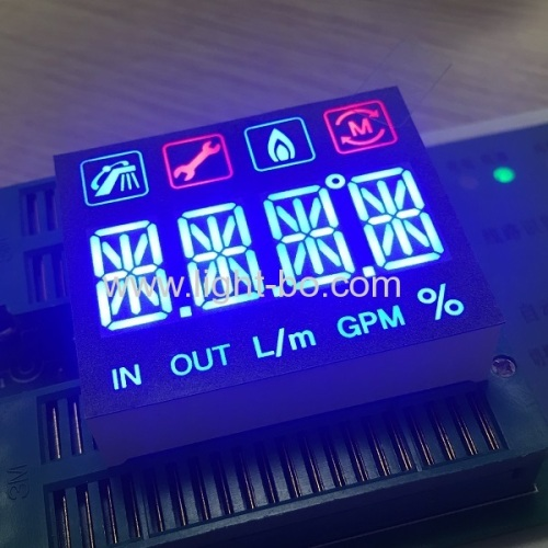 Customized multicolour 4 digit 14 segment led display module for instrument panel