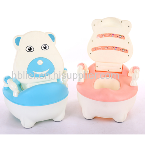Plastic potty for baby