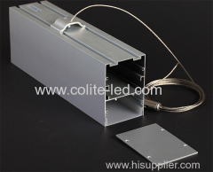Suspension LED aluminum profile rectangular extrusion