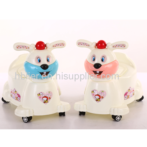 Cute rabbit baby potty chair