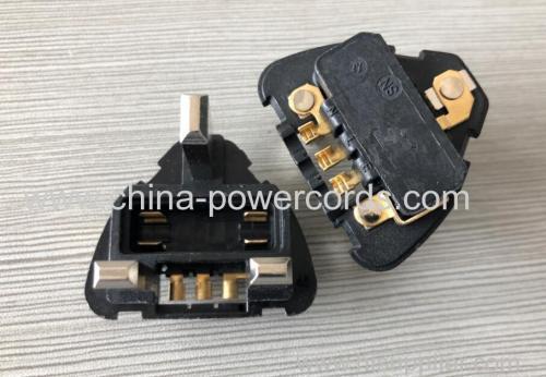 3-pin British Plug inserts