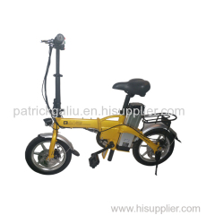 14 inch 350W 48V Lithium Battery foldable City Electric Bike (battery removable)