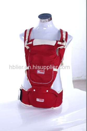 Adjustable polyester baby safety seat and carry sling wrap belt baby carrier