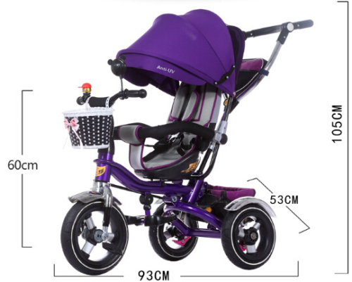 wholesale rotatable seat children tricycle