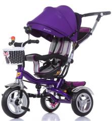 rotatable seat children tricycle