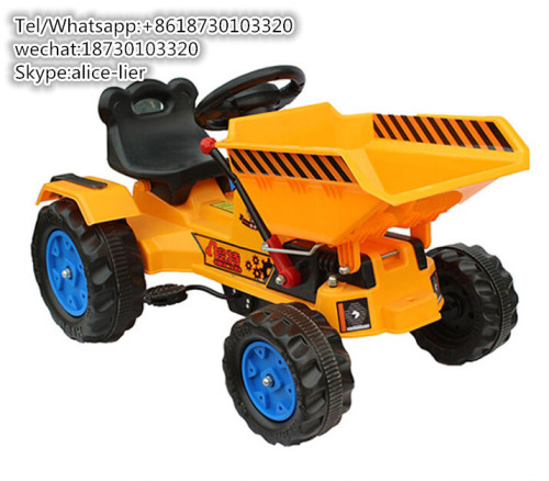 plastic ride on sliding rc excavator truck kids toy car with push bar battery car electric tractor