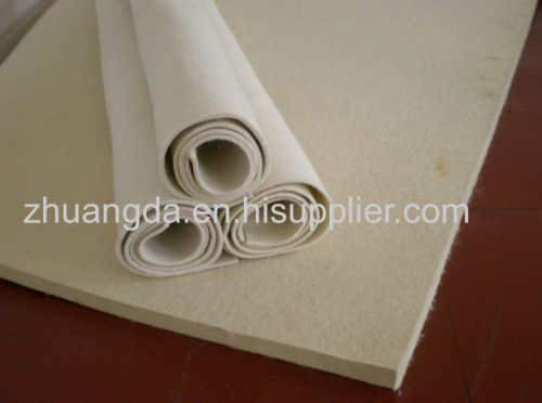 Supply high quality fine white wool felt for industrial machinery and household felt ironing machine