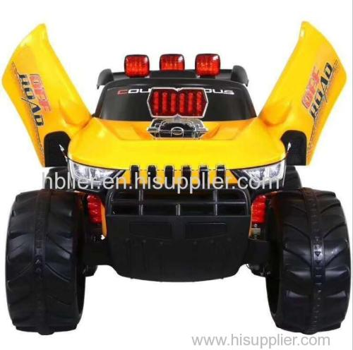 Children driving plastic cars electric four-wheel drive cars for children