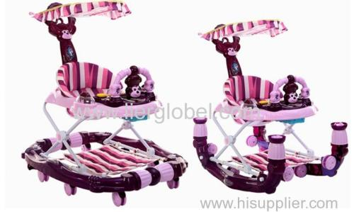 Baby walker for sit-to- stand multi functions baby carriage multi colors