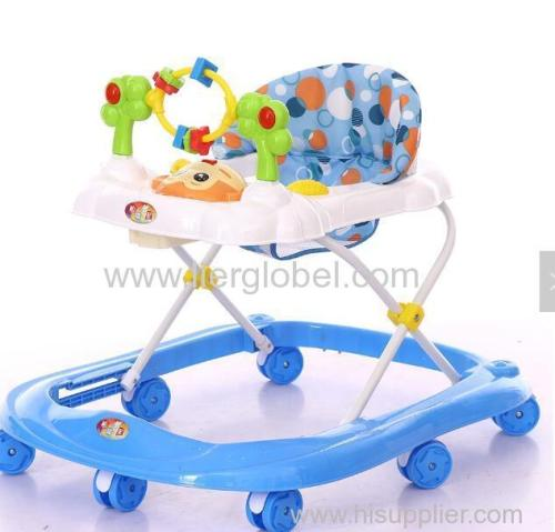 safe swivel wheels baby walker with removable musical box