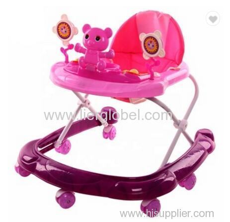 4 In 1 Plastic 8 Wheels Rolling Baby Walker