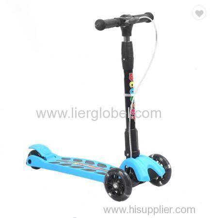 Baby Foldable Printing PU 3wheels Children Kick Scooter Outdoor Sport