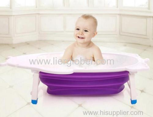 Newborns Bath Basin Portable Foldable Plastic Baby Bath Tub