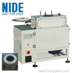stator slot insulation paper cutting folding forming and inserting machine