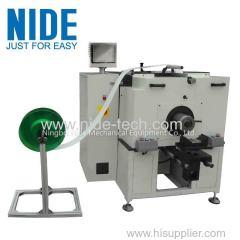 Horizontal type stator slot insulation paper inserting machinery for induction motor