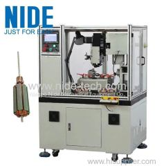 NIDE CNC electirc motor commutator turning machines for armature rotor with PLC