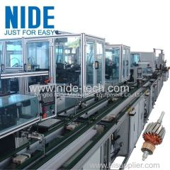 Automatic Power Tool Motor Armature Winding Machine Rotor Assembly Line
