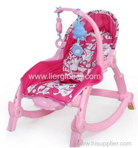 Eco-friendly Dining Sitting Plastic Baby Rocking Chair