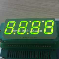 "Super bright green 0.56"" 4 Digit 7 Segment LED Clock Display for wall oven control"