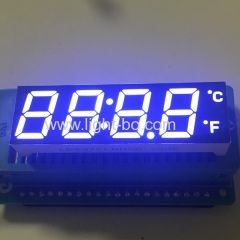 Customized ultra white 12mm 4 digit 7 segment led display common cathode for temperature control