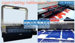 Laser cutting sublimated fabrics