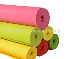 Color felt cloth green environmental protection chemical fiber felt needled non-woven felt bag special felt