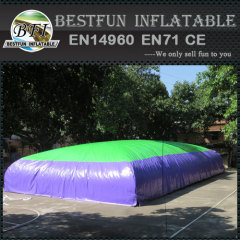 Soft landing air bag inflatable jumping pillow for trampoline park
