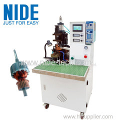 Automatic armature commutator fusing machine