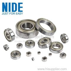 High precision motor armature ball bearings