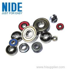 Waved pressed steel cages DEEP GROOVE BALL BEARINGS
