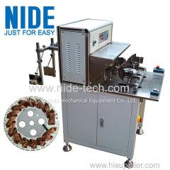 External rotor table fan motor stator winding machine