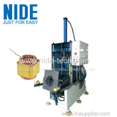 Stator coil winding shaping and final forming machine